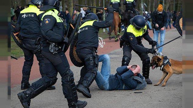 Polisten göstericilere orantısız güç