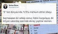 İran ve Kongo'yu Geride Bıraktık... Türkiye, Dünyada Faizin En Yüksek Olduğu 7. Ülke Haline Geldi