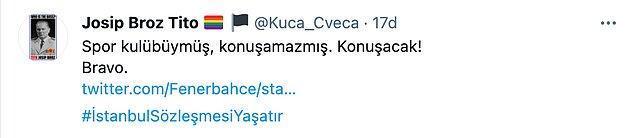 Fenerbahçe bu paylaşımından sonra oldukça destek gördü ve diğer takımlar da desteğe çağırıldı:
