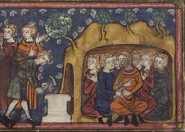 Bunu duyan Diomedes arkadaşlarına kralın emrini haber verir ve onlar ilâhî lutuf neticesinde derin bir uykuya dalarlar.