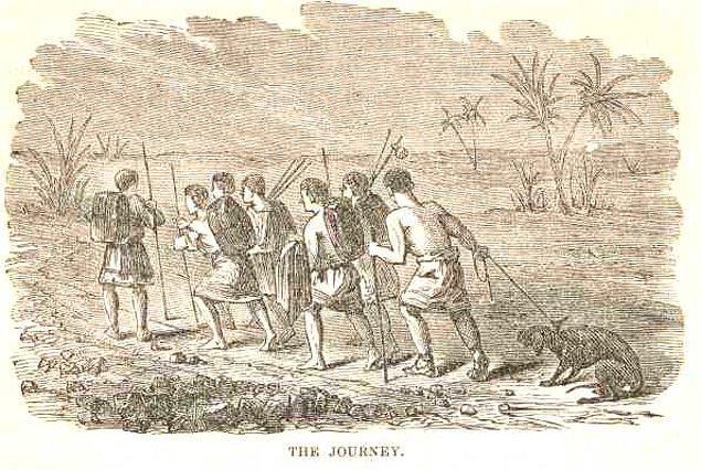 İmparatorun şehirden ayrılması üzerine gençler kaçarak Anchilus Dağı yakınlarındaki bir mağarada gizlenirler.