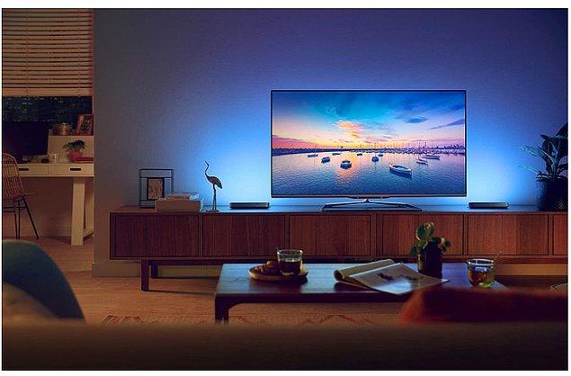 11. Son yıllarda TV arkasını aydınlatmak da çok popüler.