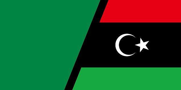 4. Libya'nın bayrağı, dünyada yalnızca renkten oluşan tek bayraktı.