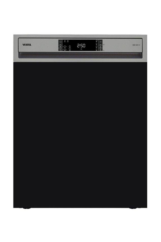 10. Vestel'in yarı ankastre bulaşık makinesi de çok tercih edilen modellerden biri.