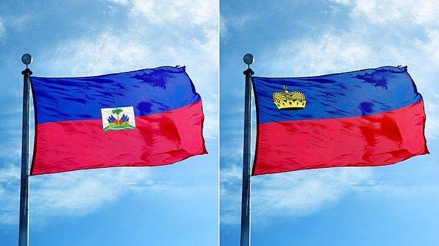 8. Lihtenştayn ve Haiti, bayraklarının aynı olduğundan haberdar bile değildi...
