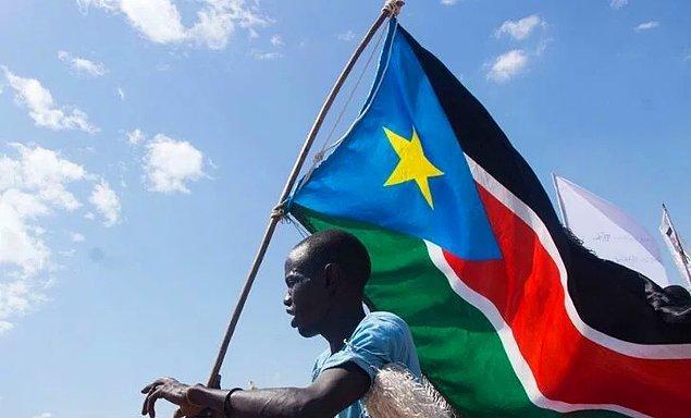 13. En yeni bayrak ise Güney Sudan'ın...