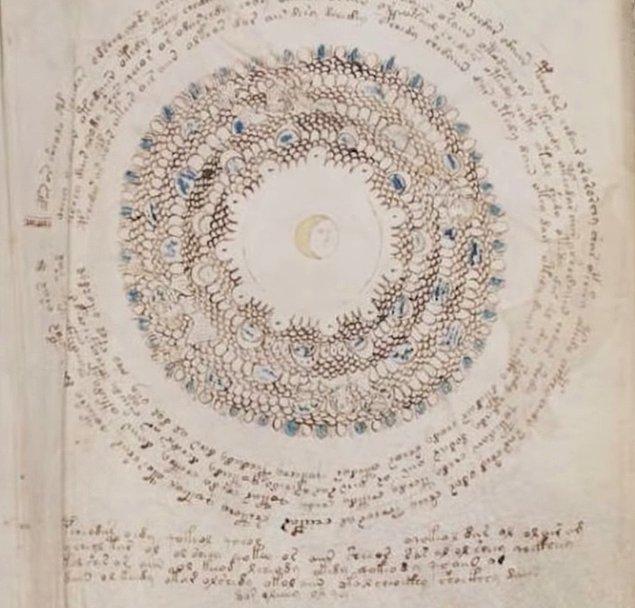 Dördüncü bölümde ise kozmolojik yani evrenle ilgili çizimler yer alıyor. Tasvirlerin coğrafi şekilleri tasvir ettiği düşünülüyor.