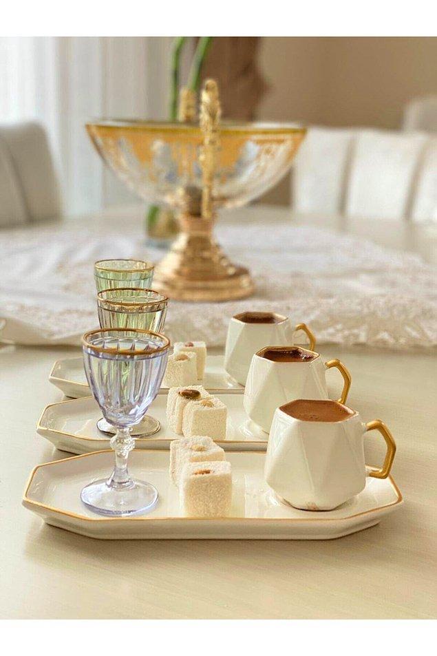 9. Yemeğin üzerine bir orta şekerli kahve de güzel olmaz mı?