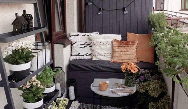 5. Şık bir sedir balkonunuzun havasını değiştirir.