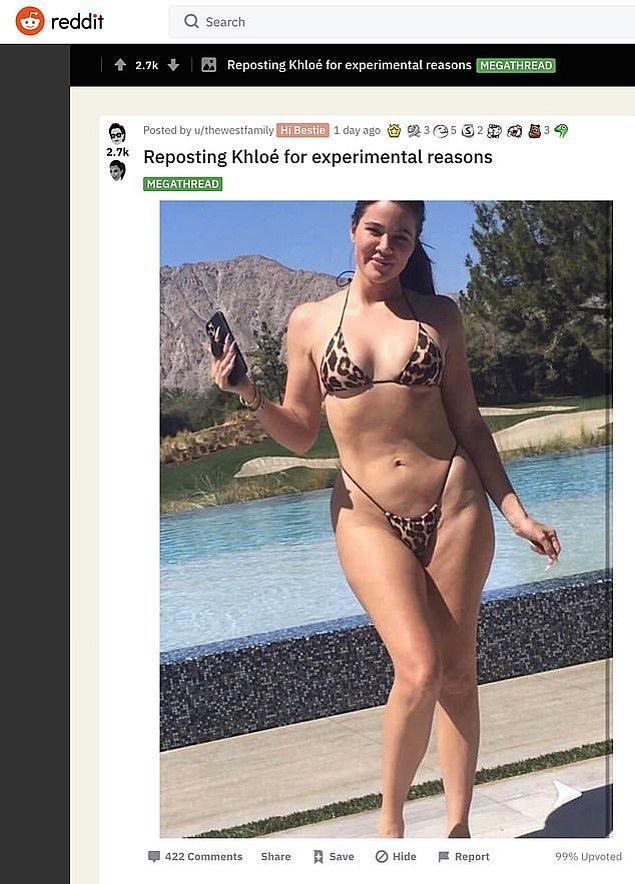 Good American isimli markanın çekimleri için leopar desenli bikinisiyle kamera karşısına geçen Khloe'nin filtresiz fotoğrafı sosyal medyada olay oldu desek yeridir.
