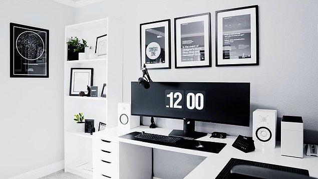 7. Hem home office hem de oyun odası olarak kullanabileceğiniz bir oda.