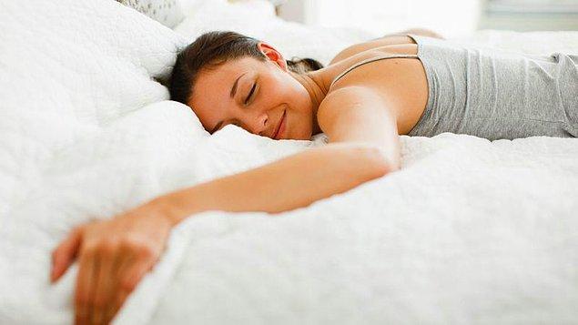 Uyurken vücut ısınız en düşük seviyededir.
