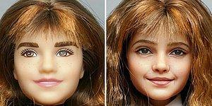 Художник снимает макияж с кукол, и перекрашивает их лица более детально и реалистично (15 фото)