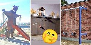 13 детских площадок от скульпторов, которые явно были в нетрезвом состоянии, когда их создавали