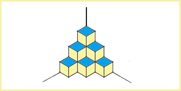 6. Peki görseldeki şekil kaç küpten oluşmaktadır?
