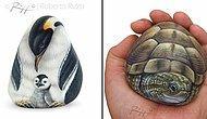 Художник вдыхает жизнь в обычные камни, превращая их в животных (20 фото)