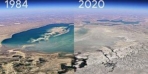 Google Планета Земля собирает спутниковые снимки, чтобы показать, как мощно поменяли люди планету за несколько лет