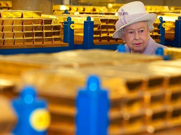 21. İngiltere Merkez Bankası Altın Rezervi