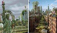 Апокалиптический мир: Художник представил, как бы выглядели города, если бы человечество исчезло (15 фото)