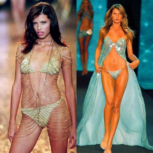 6. 2000 - Adriana Lima ve Gisele Bundchen