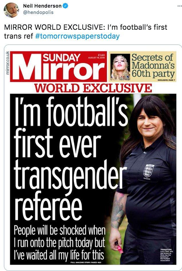 Bildiğiniz üzere futbol camiasında hala ne yazık ki toplumsal cinsiyet rolleri birer tabu. Ancak hatırlarsanız 2018 yılında Lucy Clark dünyanın ilk transseksüel futbol hakemi olmuştu.