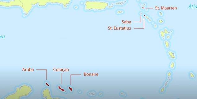 2. Hollanda'nın Karayipler'de 3 adası bulunuyor.