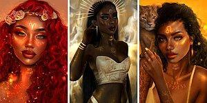 Художница решила показать, как бы выглядели знаки зодиака, планеты и стихии в образе женщины (20 фото)