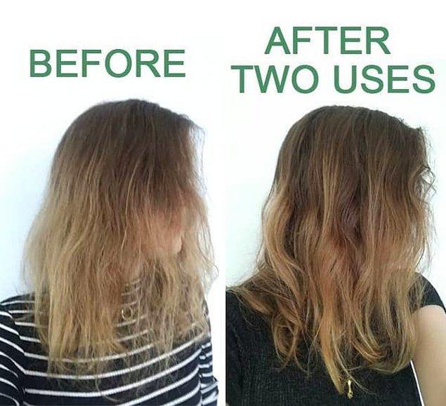 13. Saçları besleyen ve daha dolgun bir görünüme kavuşturan kolajen kremi