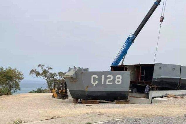 """Gazedda Kıbrıs'ın aktardığına göre silinen yere """"Müze Gemi"""" yazılacağı da öğrenildi."""
