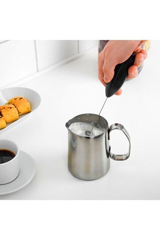 5. Son dönemin en çok kullanılan ürünlerinden kahve köpürtücü...