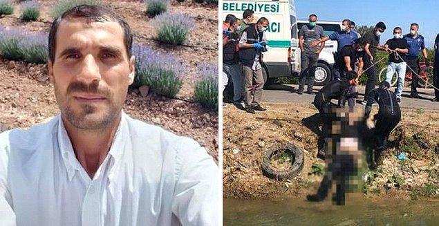 Tarsus'taki sulama kanalında cesedi bulundu.