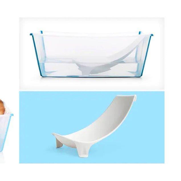 6. Yenidoğanlar için çok kullanışlı bir küvet aparatı.