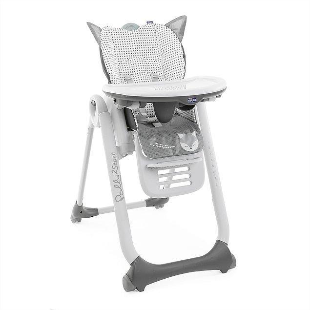 8. Bebeğiniz ek gıdaya geçince olmazsa olmazınız bu mama sandalyesi olacak.