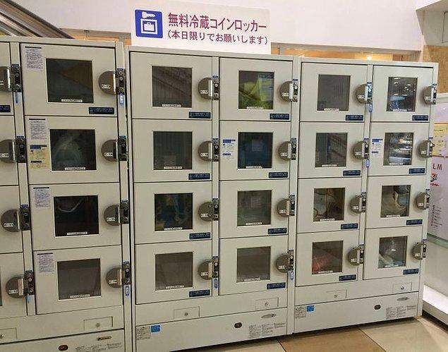 """12. """"Japonya'da bulunan bu alışveriş merkezinde çabuk bozulabilecek gıdalarınız için ücretsiz buzdolapları var, böylece yiyeceklerinizi aldıktan sonra alışverişinize devam edebilirsiniz."""""""