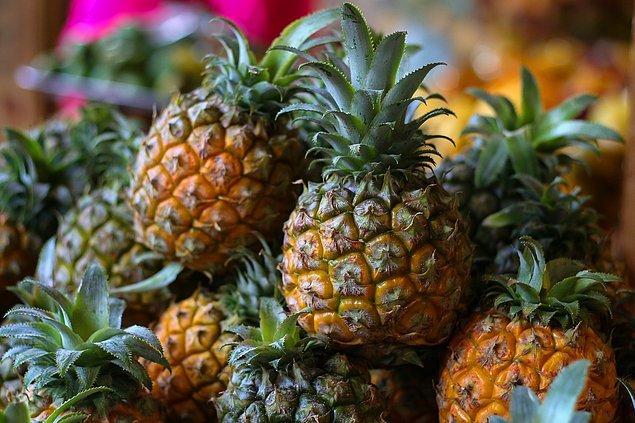 1. Ananasın tarlada yetişen bir meyve olduğunu biliyor muydunuz?