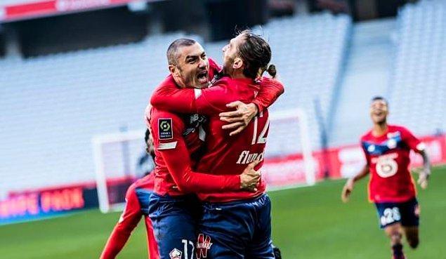 Zeki Çelik, Yusuf Yazıcı ve Burak Yılmazlı Lille, Fransa Ligue 1'de Angers deplasmanına şampiyonluk için çıktı.