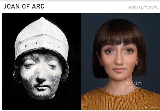 Fransa'nın koruyucusu Joan of Arc...