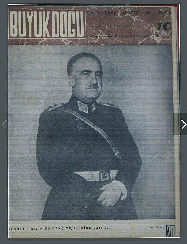 """Bu sürede Atatürk'ü öven yazılar yazar. Hatta Büyük Doğu dergisinin 10. sayısında """"Atatürk Dirilecektir"""" adlı bir yazı kaleme alarak şunları söyler:"""