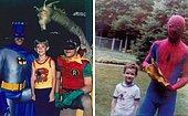 20 забавных и неловких фотографий детей, позирующих с супергероями и популярными персонажами комиксов 70-х и 80-х годов