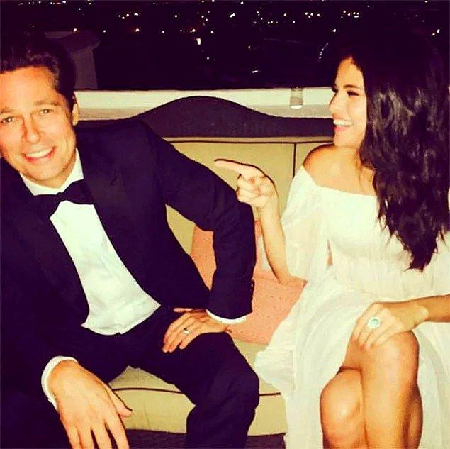 Şiddet haberlerinin yanı sıra Brad Pitt'in Selena Gomez ile birlikte olduğu hatta bu yüzden boşandıkları iddia edildi...