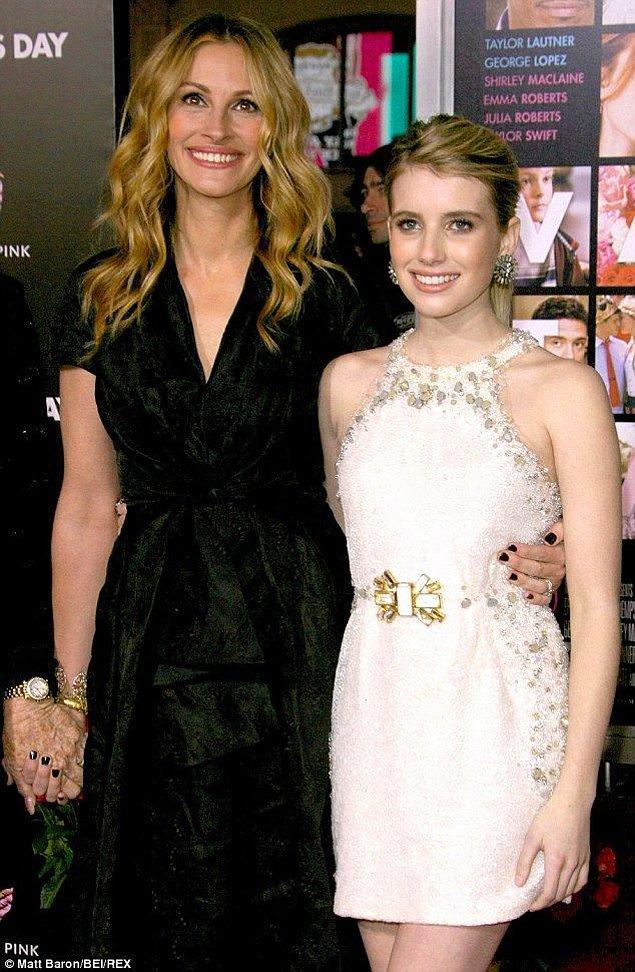 5-Julia Roberts ve Emma Roberts