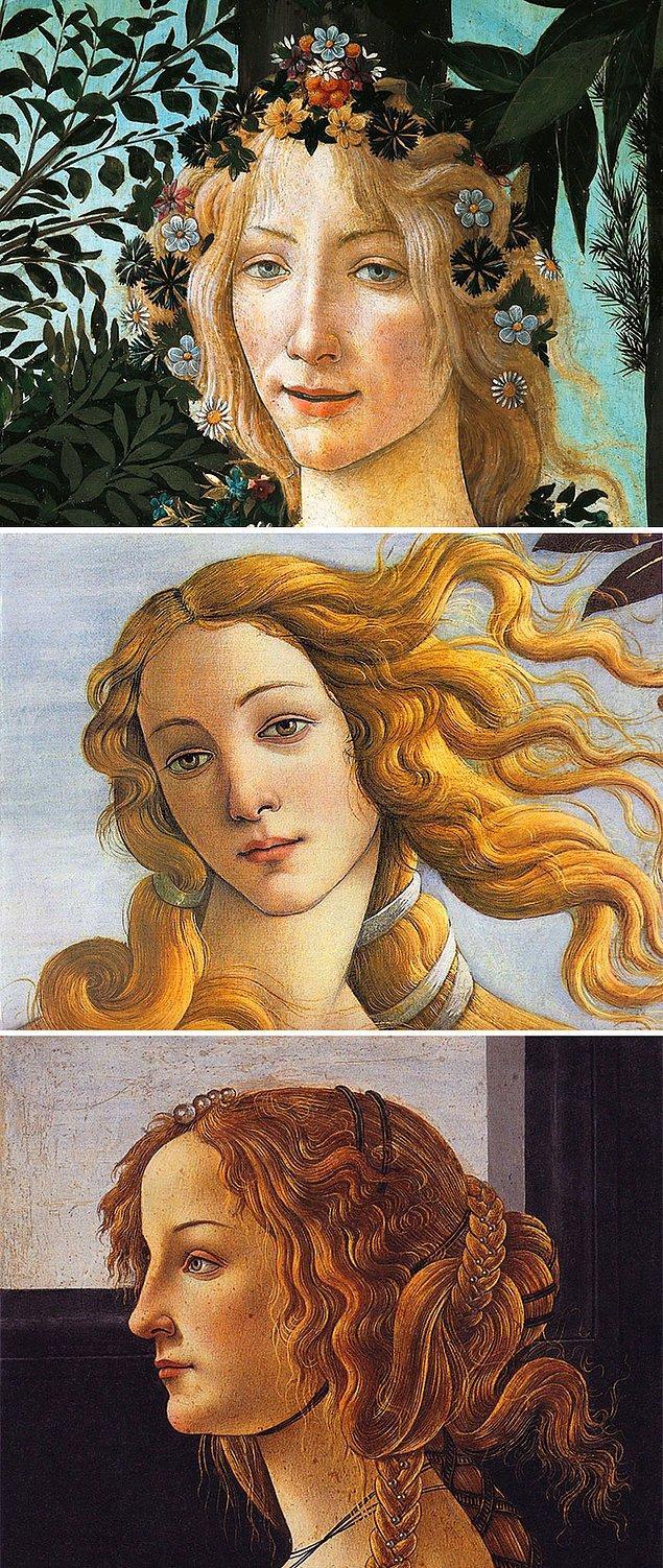 4. Eğer resimde bu sarışın kadının yüzü varsa Botticelli'dir.