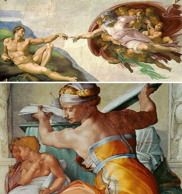 14. Eğer tabloda kadınlar da dahil herkes nedensizce aşırı kaslıysa bu muhtemelen Michelangelo'dur.
