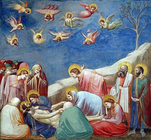 15. Rengarenk ihramlar giyen din insanları Hz. İsa'nın doğumuna şahitlik ediyorsa bu Giotto'dur.
