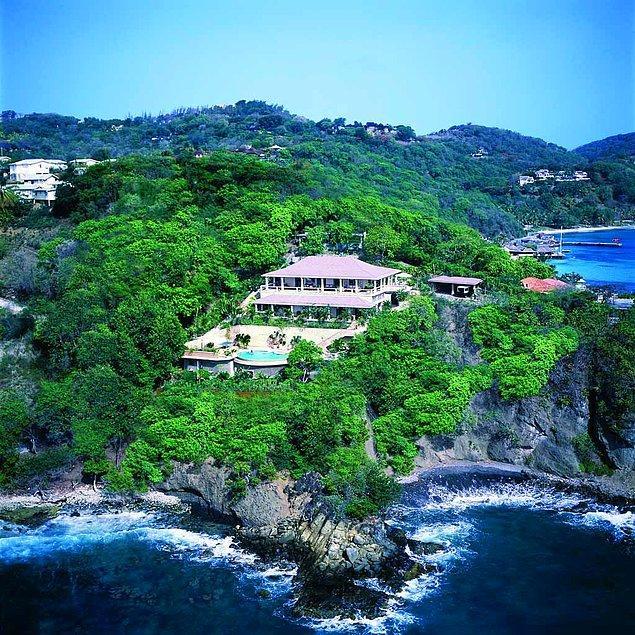 5. Batı Hint Adaları'ndaki Mustique Adası