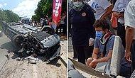 Ölümden Döndü! Oyuncu İlker Aksum'un Kullandığı Otomobil Takla Attı