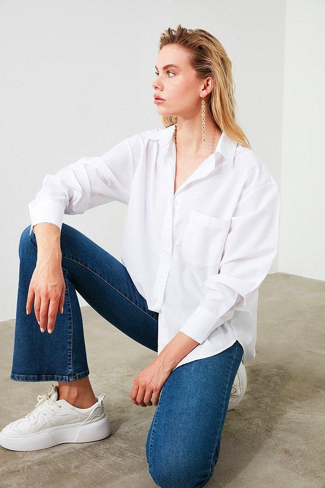 16. Gömlek yaka stili ise sıklıkla gömleklerde karşımıza çıkıyor.