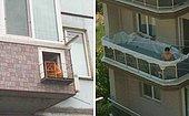 15 фото балконов, которые настолько странные, что даже забавно выглядят