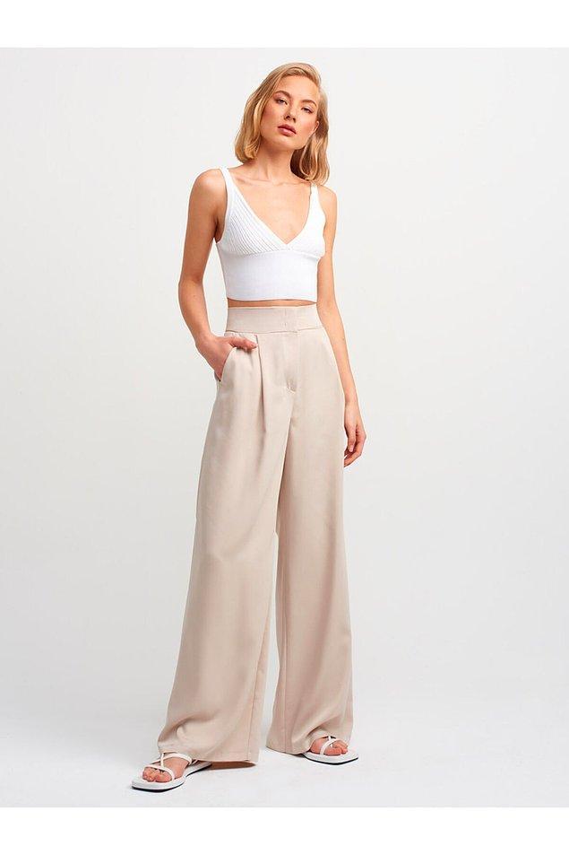 9. Bol paçalı pantolon