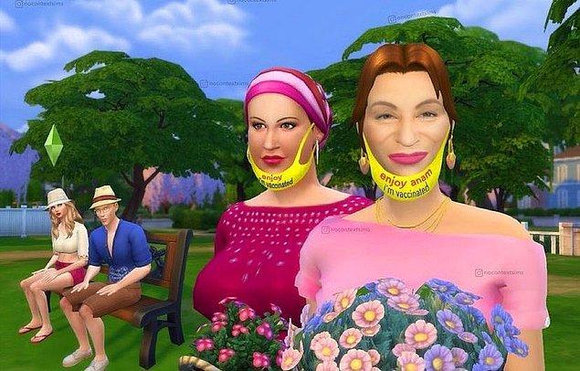 9. Sims evreninde Cennet Mahallesi.